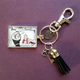 Boy Sherlock and Dog Pendant Keychain