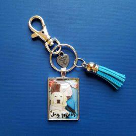 Dog Mom Pendant Keychain