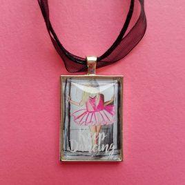 Keep Dancing Ballerina Necklace