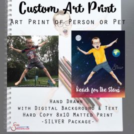 Custom Art Print – SILVER Option