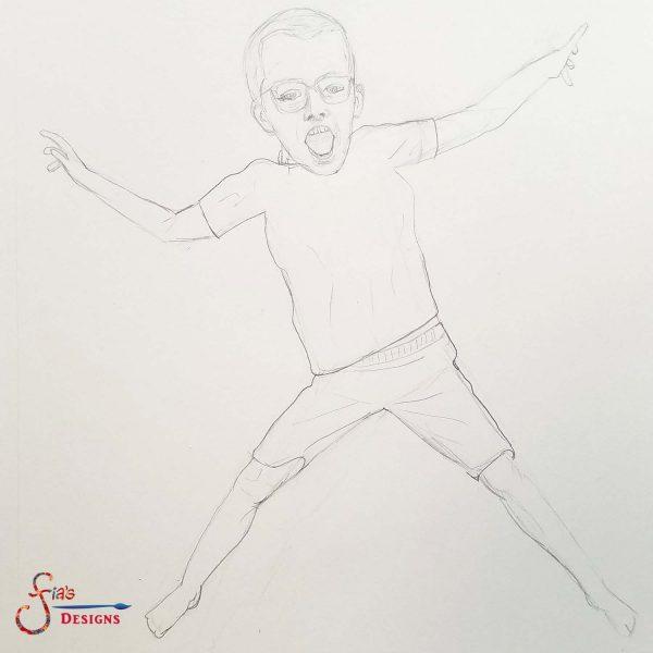 Step 1 Graphite Sketch