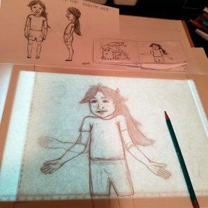 Tracing Enlarged Sketch